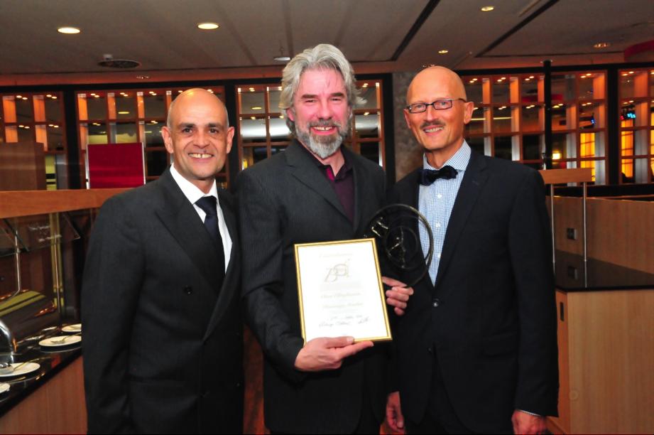 De izquierda a derecha Stefan Collier, Klaus R. y Jürgen Eichinger. Foto cedida por Josep Thiel